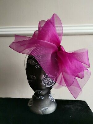 plum pink purple fascinator millinery burlesque headband wedding hat hair piece