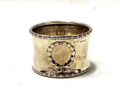 Vintage Gorham Manufacturing 925 STERLING SILVER Wreath Napkin Ring  - T09
