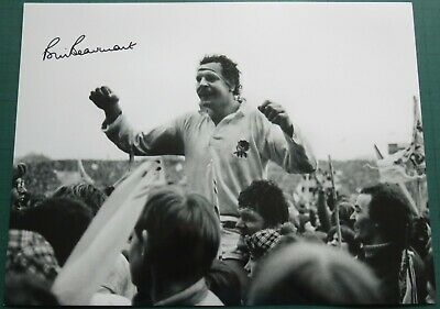 Bill Beaumont Signed England Rugby Union Large Photo COA AFTAL RD175