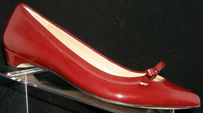 a8e1399d5602 Talbots  Moni  burgundy patent leather pointed toe bow slip on heels ...