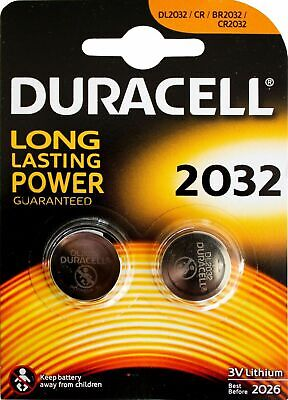 2 X Duracell CR2032 3v LITHIUM Coin Cell Batteries (pack of 2) DL2032 BR2032