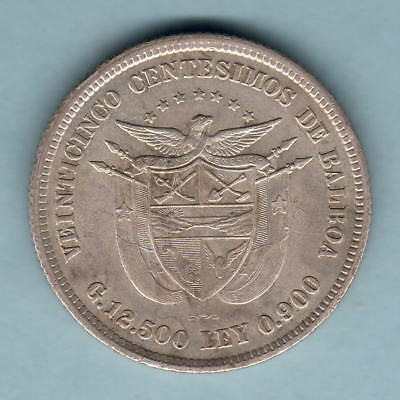 Panama. 1904 25 Cents.. Much Lustre - EF