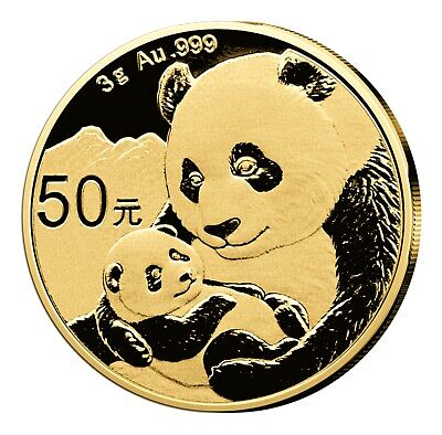 Panda 3 Gramm Gold 2019 China