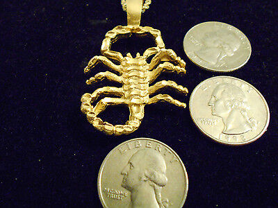 bling gold plated MYTH scorpion astrology pendant charm hip hop necklace JEWELRY