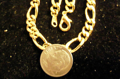 "bling gold Plated 5MM 24"" figaro chain necklace link thug hip hop casino JEWELRY"