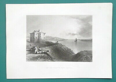 CANADA Nova Scotia Annapolis Old Fort - 1840s Engraving Print by BARTLETT