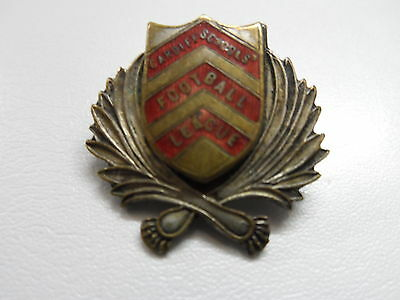 Rare Old Football Badge  Cardiff Schools Football League  Brooch Pin