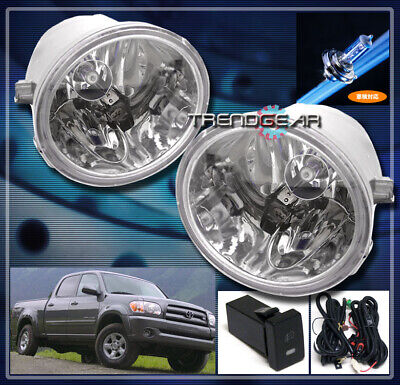 01-07 Toyota Sequoia/00-06 Tundra Bumper Driving Jdm Clear Fog Light Lamp+Switch