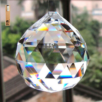 10 Pcs Crystal Chandelier Lamp Faceted Ball Prisms Suncatcher Window Decor 30Mm