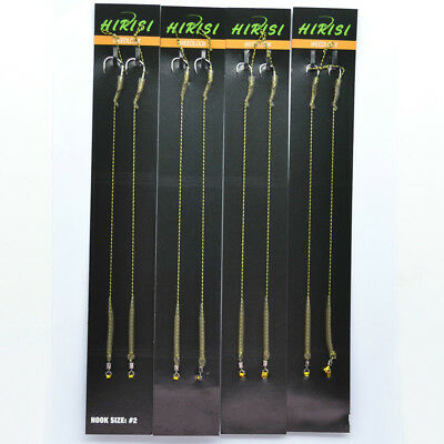 Fishing Other Terminal Tackle 18pc Curve Shank Micro Barb Carp Fishing Tackle hair rigs Hooks fit weight clips