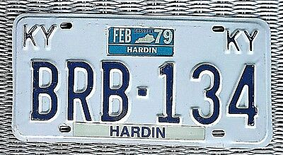 KENTUCKY License Plate / BRB-134 / HARDIN COUNTY  1979 tag