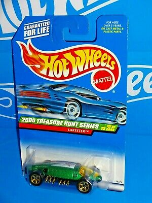 Hot Wheels 2000 Treasure Hunt Series #053 Lakester Green w/ Gold 5SPs