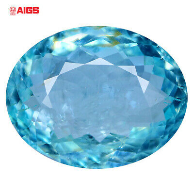 4.48 Ct Aigs Certified If Loupe Clean 100% Natural Mozambique Paraiba Tourmaline