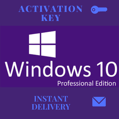 Details about  Microsoft Windows 10 Pro Professional 32/64bit Genuine License Ke