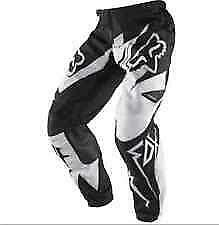 New Fox Racing 180 Race White Black Pants Motocross Off Road Youth Size 26