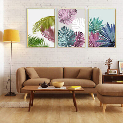 Abstract Plant Leaf Canvas Wall Painting Poster Picture Art Home Decor Faddish