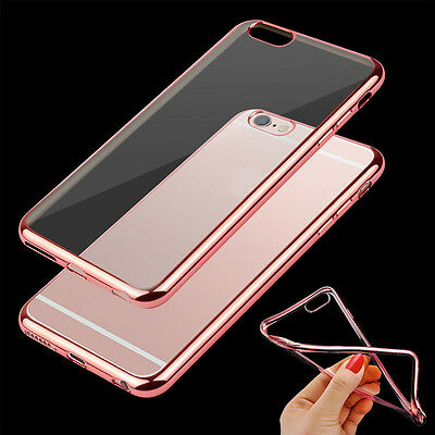 AC_ EG_ ShockProof Silicone Bumper Clear Slim Case Cover For apple iphone 7 6 6S