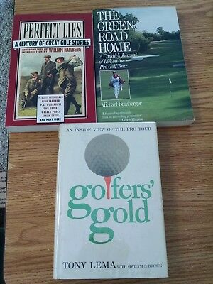 4 Books On Golf: Perfect Lies, Golfers Gold, The Green Road Home,golden Grind