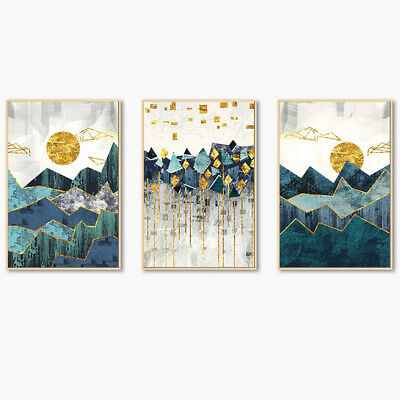 Sun Mountain Canvas Wall Painting Picture Poster Art Office Home Decor Faddish