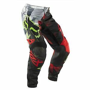 New Fox Racing 180 Race Red Black Green Pants Motocross Off Road Youth Size 24