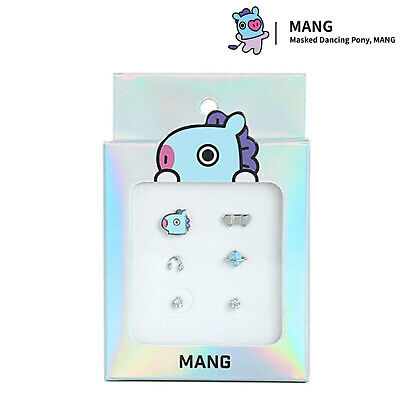 BTS BT21 OST Silver Earring Kit Set New Jewelry Official Authentic Goods - MANG