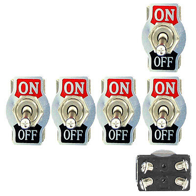 5 X Heavy Duty 20A 125V DPST 4 Terminal Pin ON/OFF Rocker Toggle Switch Bat