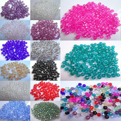 100pcs Round Glass Stone Loose Spacer Seed Beads DIY Charms Jewelry 3*4mm