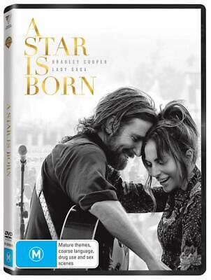 A STAR IS BORN (2018): Lady Gaga, Bradley Cooper, Music, Romance - Aus Rg4 DVD