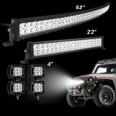 52Inch 2720W LED Light Bar Combo + 22 +4 CREE PODS OFFROAD SUV 4WD Ford 5020