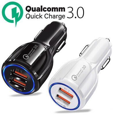 Qc3.0 Certified Quick Charge Dual 2 Usb Port Fast Car Charger 36W Faddish