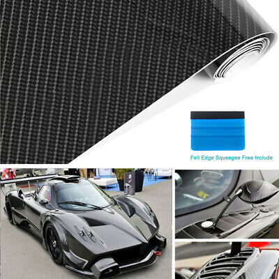 Carbon Fiber Vinyl Wrap Sticker Premium Super Gloss Bubble Free Air Release 1 FT