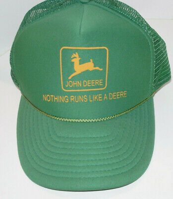Vintage John Deere Hat/Cap! Nissun! Embroidered! Snapback Trucker Style!! Mesh