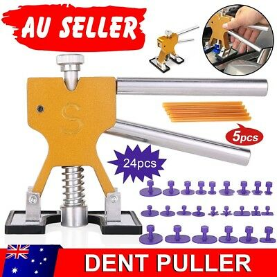 24pcs Paintless Hail Removal Dent Puller Tabs PDR Tool Auto Car Body Repair Kit