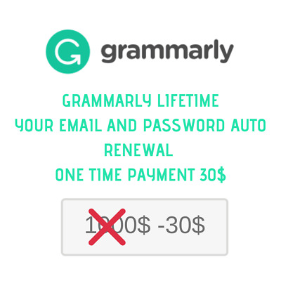 Grammarly Premium Lifetime With Your Email Warranty