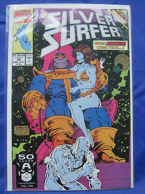 SILVER SURFER issue 56. THANOS COVER, Infinity Gauntet. Vol 3,1987 MARVEL SERIES