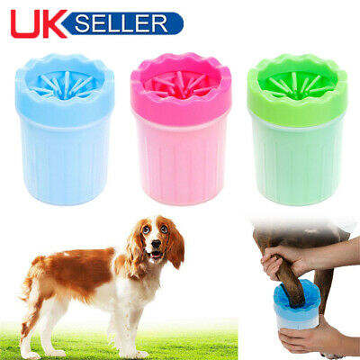 NEW Portable Pet Paw Plunger Mud Cleaner Washer Mudbuster Dog Cat Pet Paw Cup UK