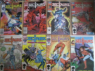 SECTAURS : COMPLETE CLASSIC 8 ISSUE MARVEL 1985 SERIES by MANTLO & TEXEIRA