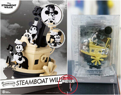 BEAST KINGDOM DISNEY MICKEY MOUSE Minnie D-stage DS-017 Steamboat Willie Figures