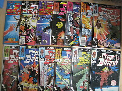 STAR BRAND issues 1,2,3,4,5,6-13. MARVEL 1985 SERIES by SHOOTER,ROMITA,BYRNE etc