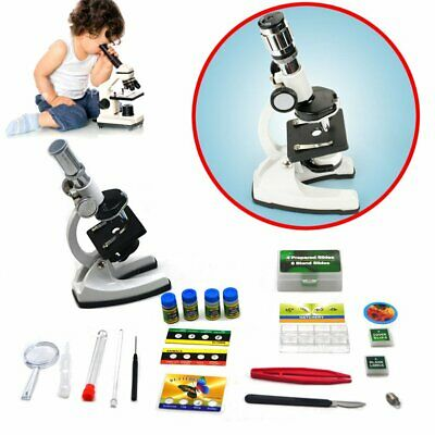 Biological Microscope Discovery Science Set Kit Case 100-1200x for 8 Year Kids