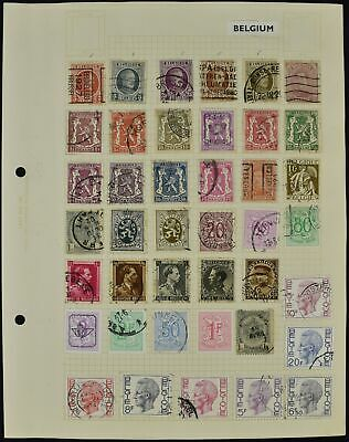 Belgium Album Page Of Stamps #V8638