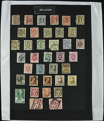 Belgium Album Page Of Stamps #V8641