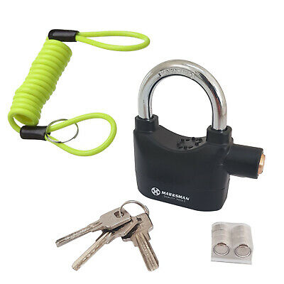 Motorcycle Disc Lock Padlock Motion Activated Siren Alarm  + Reminder Cable