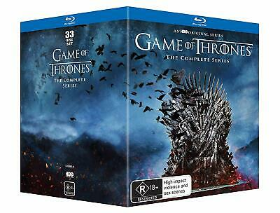 GAME OF THRONES  1-7 2011-2017 WINTER IS COMING + HERE! TV Series Au RgB BLU-RAY