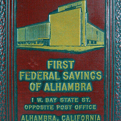 Spardose~Made in USA~Book of Thrift~First Federal Savings,Alhambra~California