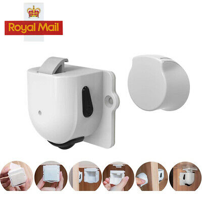 10 Locks 2 Key Invisible Magnetic Baby Child Pet Proof Cupboard Door DrawerSafe