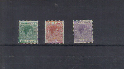 Bahamas George VI 1938-52 three values to 3d mounted mint