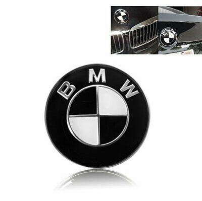 Black and White BMW Bonnet Badge  Fits Most BMW Vehicles