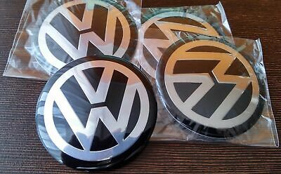 Volkswagen Alloy wheel Centre Cap Stickers 90mm Fits Most VW Vehicles