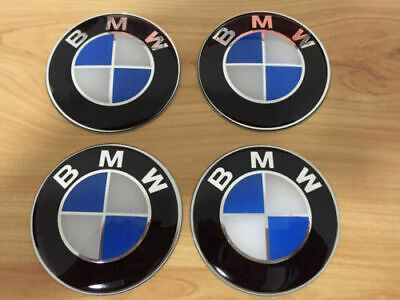 BMW Alloy Hub Cap Stickers 65mm X4 Blue/White Fits Most BMW Vehicles